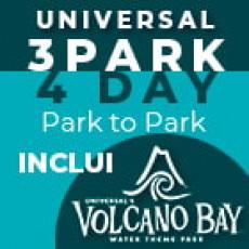 UNIVERSAL 3 Parques, 4 Dias Park to Park Promocional (Upgrade com Volcano Bay)